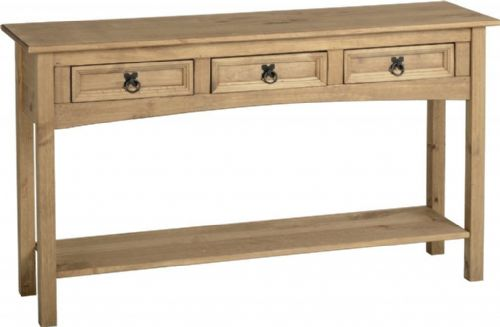 Corin 3 Drawer Console Table